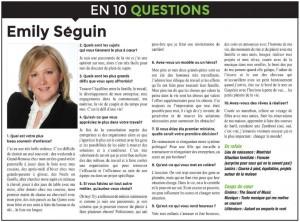 Emily Séguin 10 questions LE CHOIX